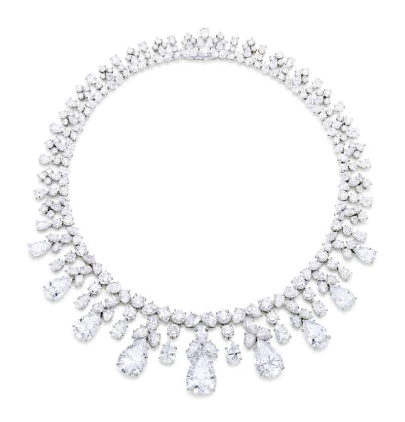 Lot-8008 Harry Winston magnificent-diamond fringe necklace
